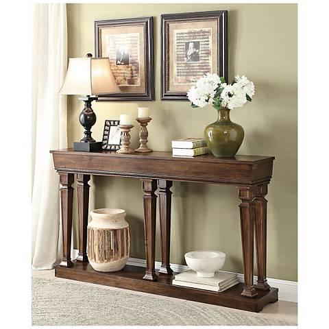 Toscani Oak Woodgrain Rectangular Console Table