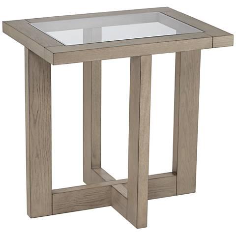 Tate Rectangular Gray Accent Table