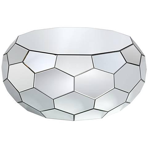 Vezzena Geometric Mirrored Coffee Table