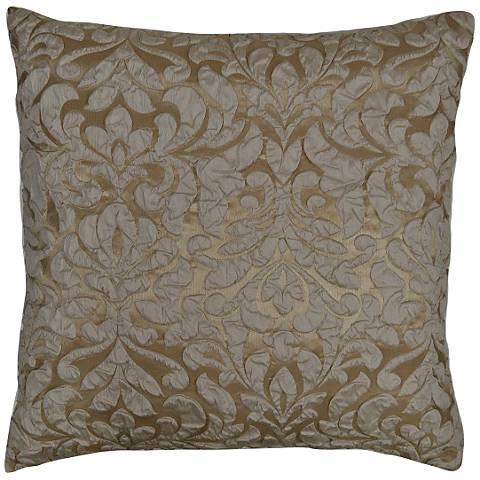 "Scala Champagne 24"" Square Decorative Throw Pillow"