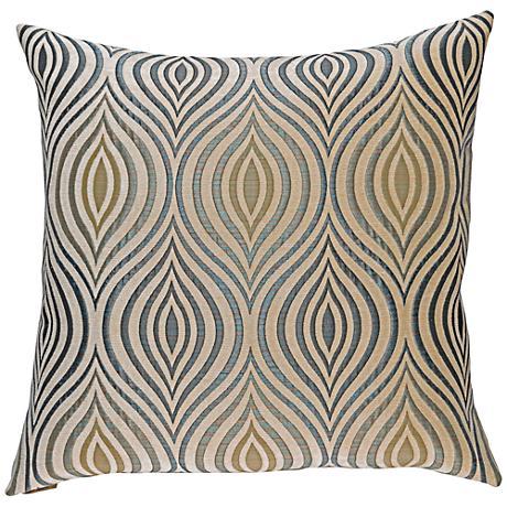 "Koza Sapphire 24"" Square Decorative Throw Pillow"