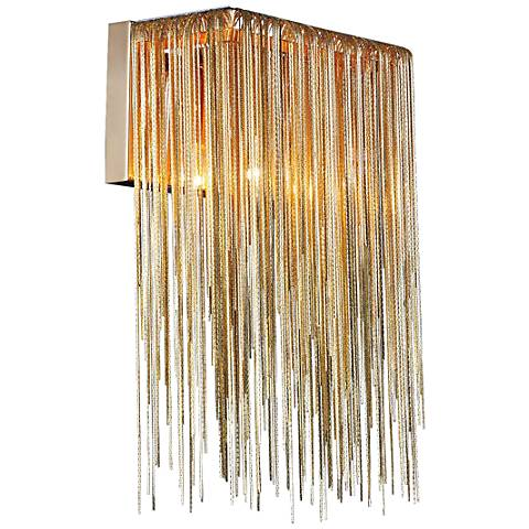 "Avenue Fountain Blvd. 14"" High Gold Wall Sconce"