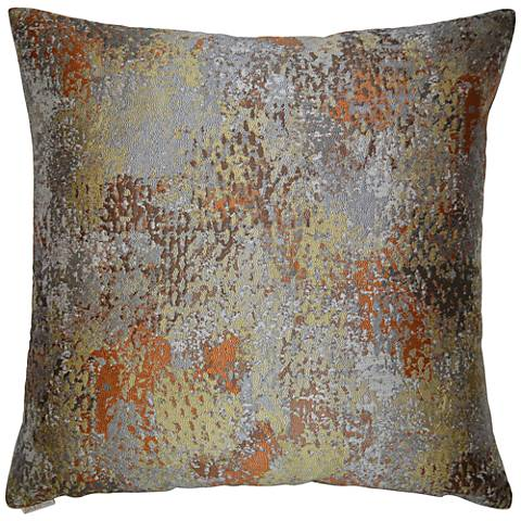 "Abstraction II Multi-Color Orange 24"" Square Throw Pillow"