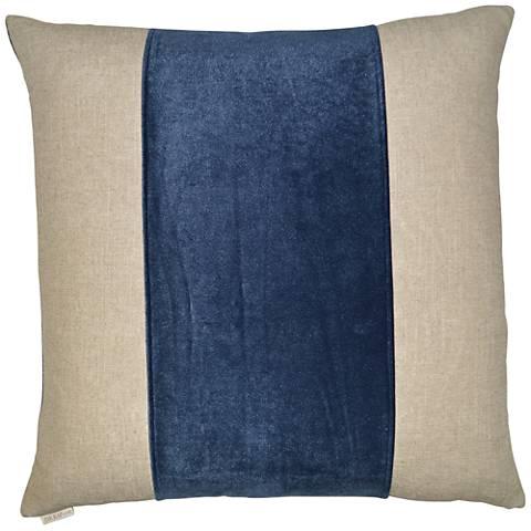 "Jefferson Azure 24"" Square Decorative Throw Pillow"