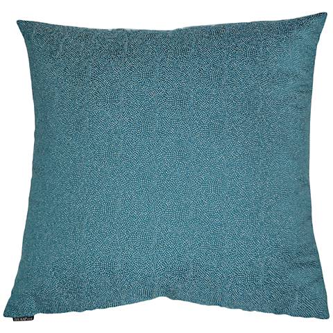 "Whimsical Teal 24"" Square Decorative Throw Pillow"