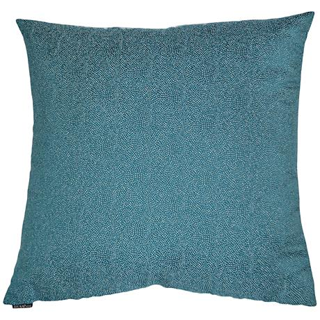 """Whimsical Teal 24"""" Square Decorative Throw Pillow"""