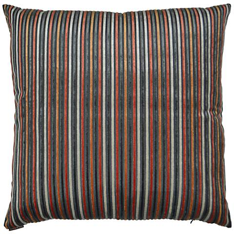"Park Place Orange 24"" Square Decorative Throw Pillow"
