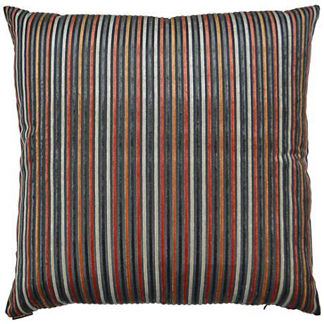 24 Square Throw Pillows : Park Place Orange 24