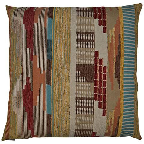 """Pueblo Multi-Color 24"""" Square Decorative Throw Pillow"""