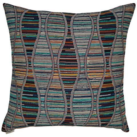 """Beatnik Multi-Color 24"""" Square Decorative Throw Pillow"""
