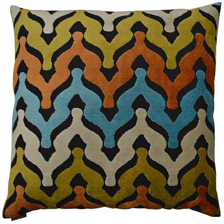 "Monroe Carnival 24"" Square Decorative Throw Pillow"