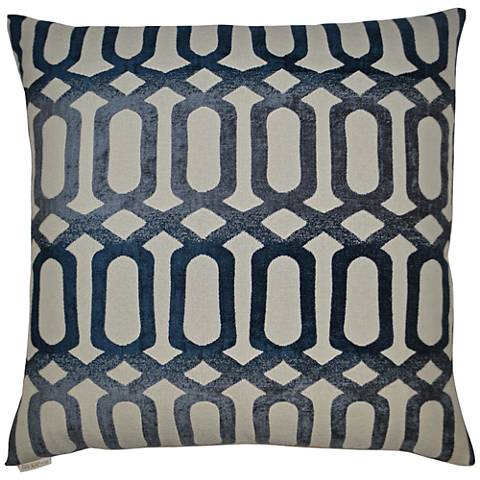"Nakita Blue 24"" Square Decorative Throw Pillow"