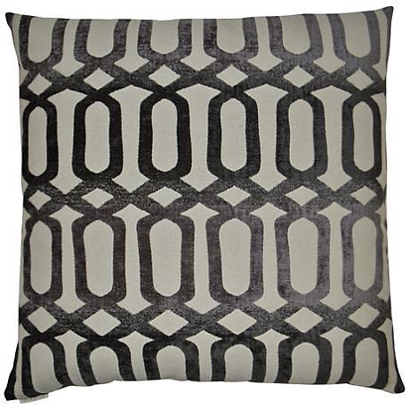 24 Square Throw Pillows : Nakita Gray 24