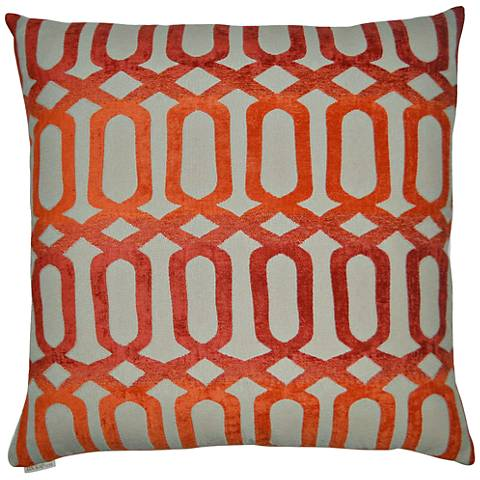 "Nakita Orange 24"" Square Decorative Throw Pillow"