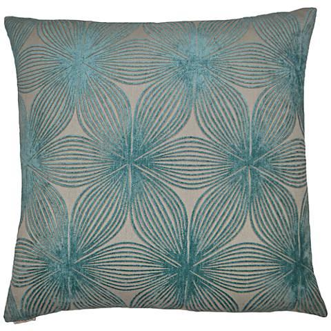 "Ellery Aqua 24"" Square Decorative Throw Pillow"