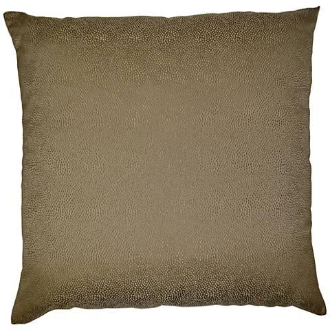 "Siren Latte 24"" Square Decorative Throw Pillow"