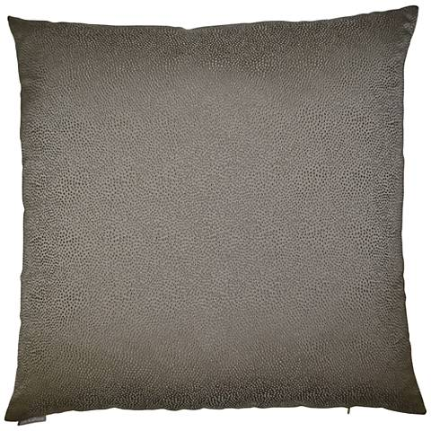"Siren Taupe 24"" Square Decorative Throw Pillow"