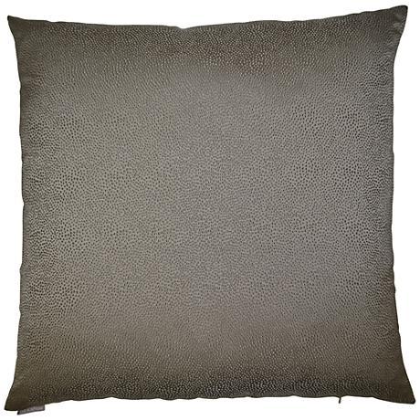 "Siren Taupe 24"" Square Decorative Throw Pillow"