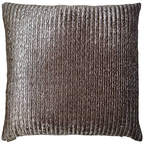 "Etsy Pewter 24"" Square Decorative Throw Pillow"