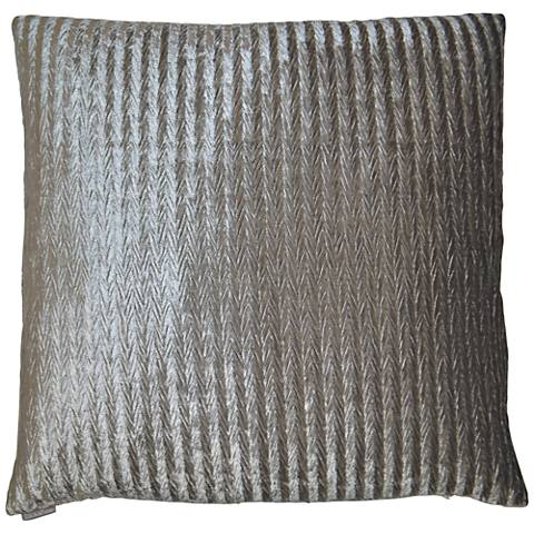 "Etsy Silver 24"" Square Decorative Throw Pillow"