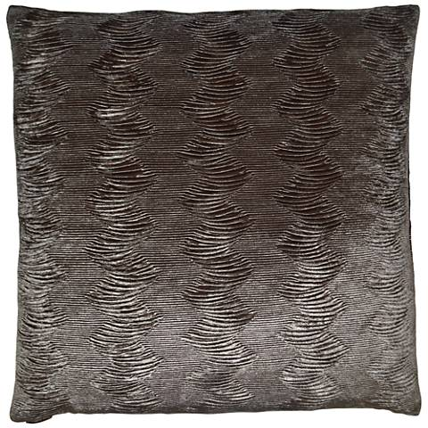 "Waterfalls Pewter 24"" Square Decorative Throw Pillow"