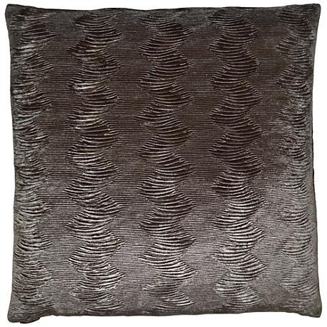"Waterfalls Pewter 24"" Square Decorative Throw Pillow"