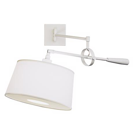 Real Simple Stardust White Boom Plug-In Swing Arm Wall Light