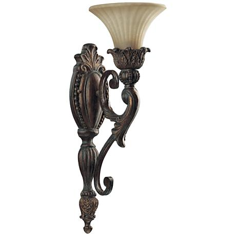 """Quorum Madeleine 21 1/2"""" High Corsican Gold Wall Sconce"""