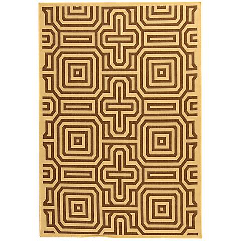 Portico Collection Brown Area Rug