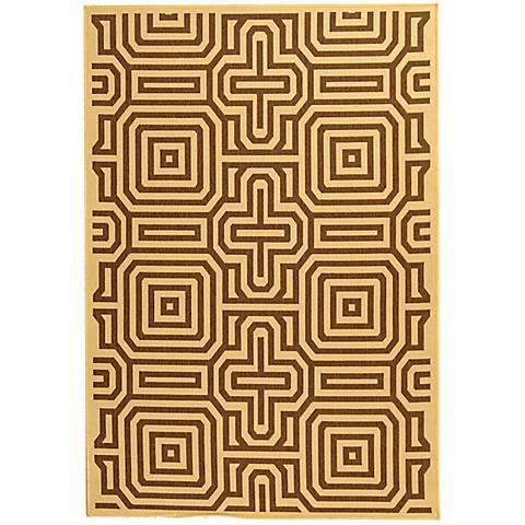 Portico Collection Brown Area Rug