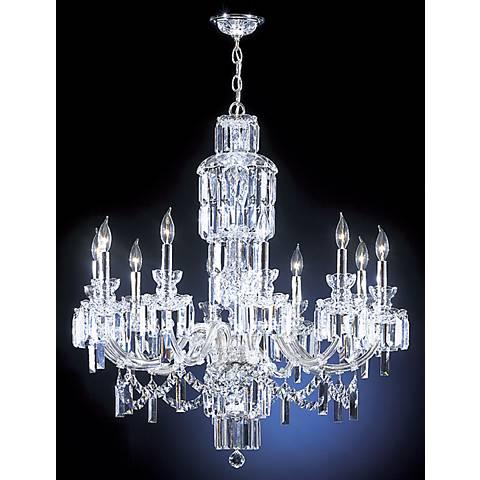 """James R Moder Grand Estate 33"""" Wide Large Crystal Chandelier"""