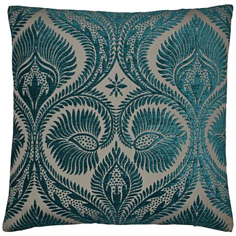 "Burma Peacock 24"" Square Decorative Throw Pillow"