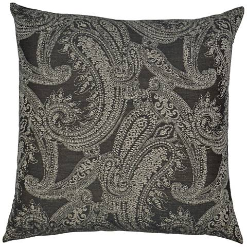 "Ravel Gray 24"" Square Decorative Throw Pillow"
