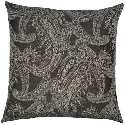 24 Square Throw Pillows : Ravel Gray 24