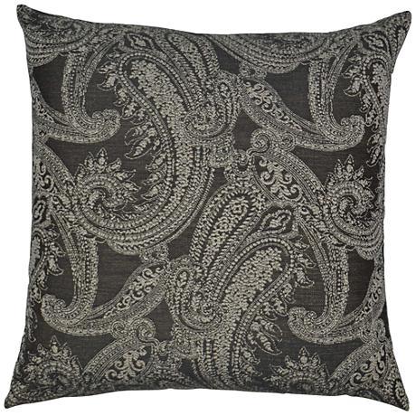 "Ravel Gray 24"" Square Decorative Throw Pillow"