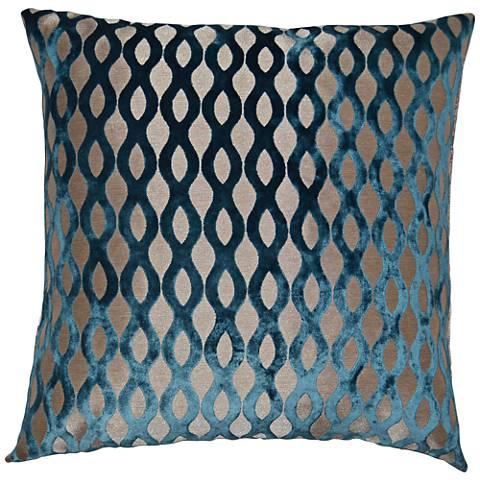 24 Square Throw Pillows : Kim Turquoise 24