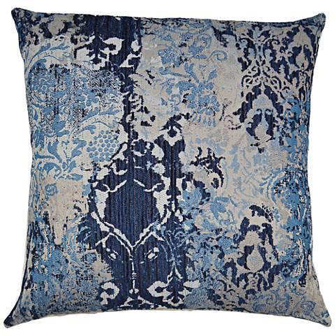 "Davola Blueberry 24"" Square Decorative Throw Pillow"