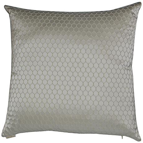 "Ariel Ivory 24"" Square Decorative Throw Pillow"