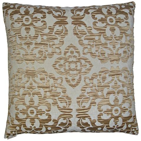 "Monte Gold 24"" Square Decorative Throw Pillow"