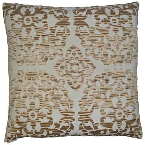 "Monte Gold 24"" Square Decorative Throw Pillow"