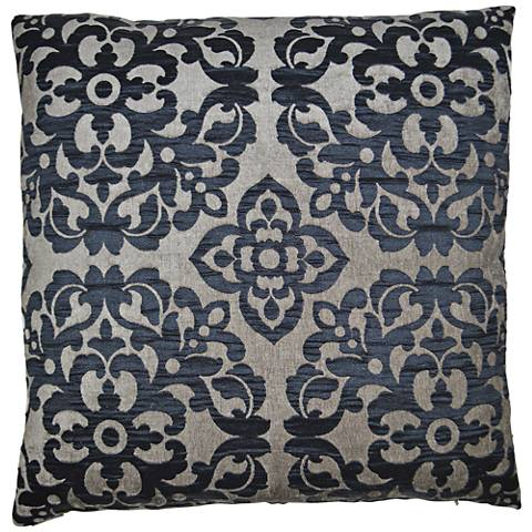 "Monte Midnight 24"" Square Decorative Throw Pillow"