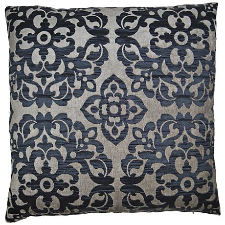 "Monte Midnight 24"" Square Decorative Throw Pillow"