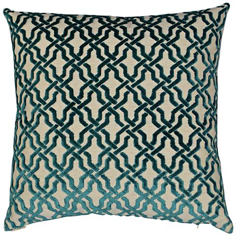 "Liberty Teal 24"" Square Decorative Throw Pillow"