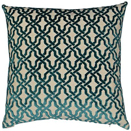 """Liberty Teal 24"""" Square Decorative Throw Pillow"""