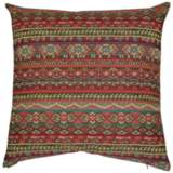 "Gemology Henna 24"" Square Decorative Throw Pillow"
