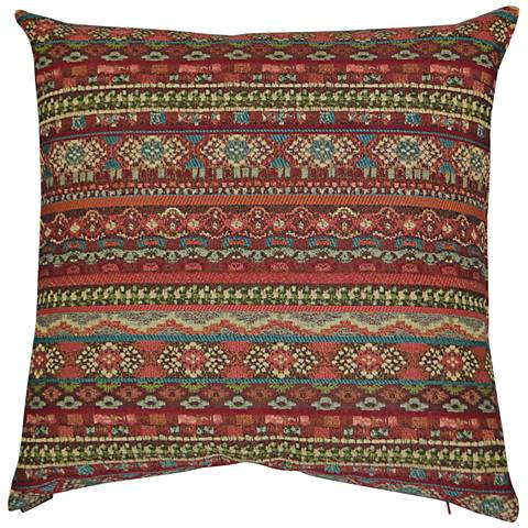 24 Square Throw Pillows : Gemology Henna 24
