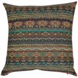 "Gemology Turquoise 24"" Square Decorative Throw Pillow"