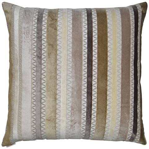 "Reece Taupe 24"" Square Decorative Throw Pillow"