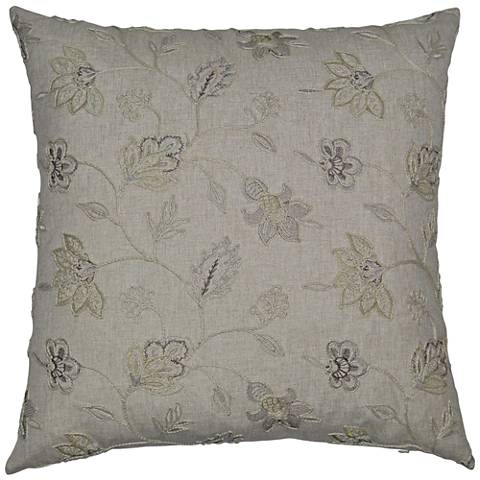 "Clippert Linen 24"" Square Decorative Throw Pillow"
