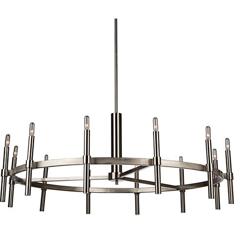 "Artcraft Encore 40""W Polished Nickel 12-Light Chandelier"